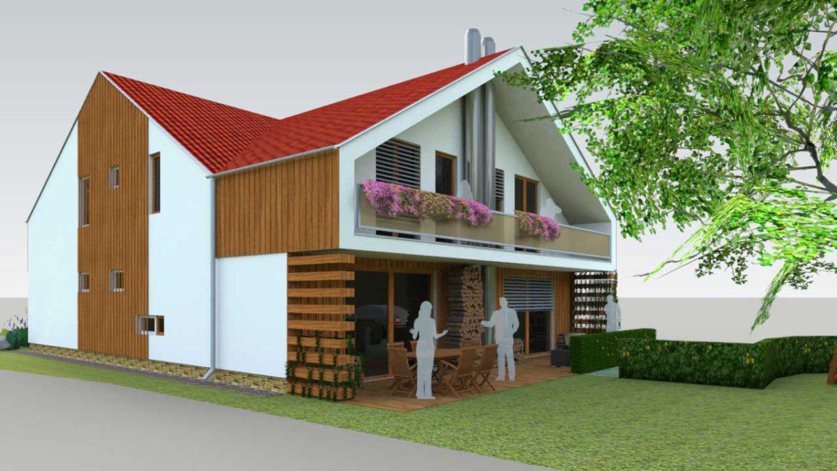 dvojgeneračný rodinný dom / drevostavba